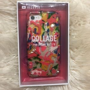 Urban Outfitters iPhone 8 Neon Pink Collage Case